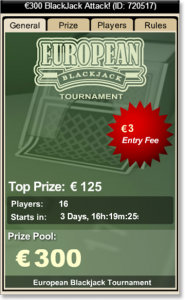Online Real Money Blackjack Tournaments