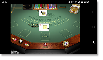 Play Vegas Single Deck 21 on your mobile