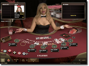Microgaming live dealer Playboy blackjack online