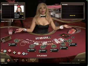 Microgaming live dealer Playboy blackjack online