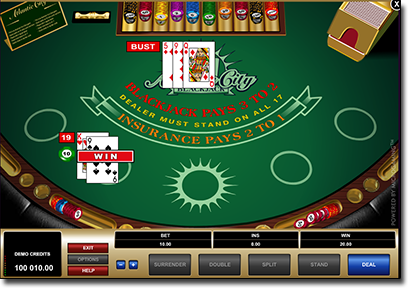 Atlantic City blackjack online for real money
