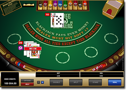 Double Exposure online blackjack by Microgaming