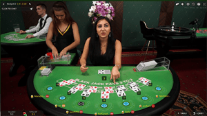 Live dealer blackjack by Evolution Gaming